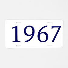 1967 Aluminum License Plate