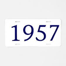 1957 Aluminum License Plate