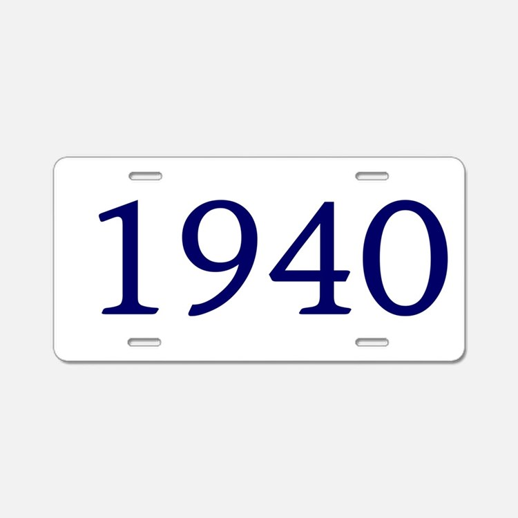 1940 Aluminum License Plate