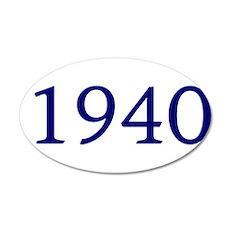 1940 22x14 Oval Wall Peel