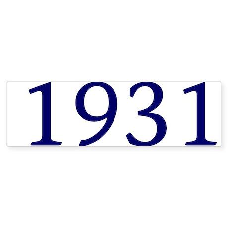 1931 Sticker (Bumper 50 pk)