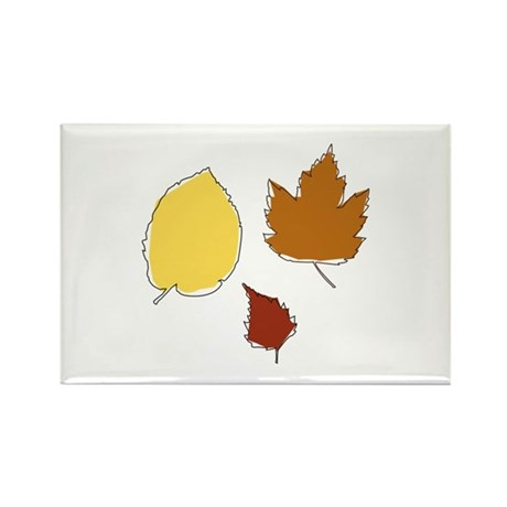 Autumn Leafs Rectangle Magnet (100 pack)