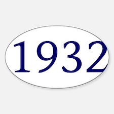 1932 Sticker (Oval)