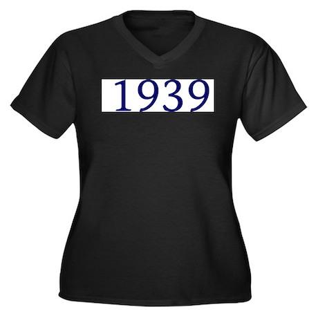 1939 Women's Plus Size V-Neck Dark T-Shirt