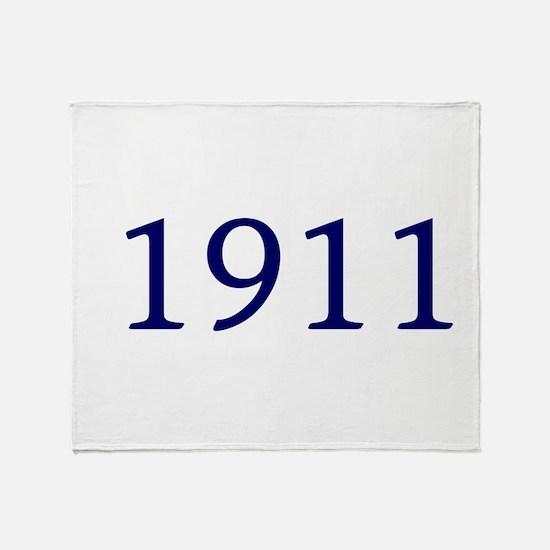 1911 Throw Blanket