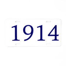 1914 Aluminum License Plate