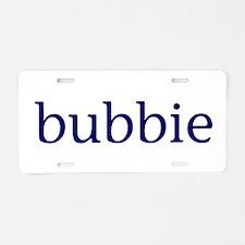 Bubbie Aluminum License Plate