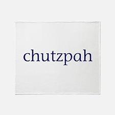 Chutzpah Throw Blanket