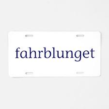Fahrblunget Aluminum License Plate