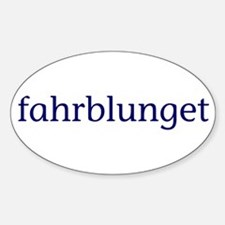 Fahrblunget Sticker (Oval)