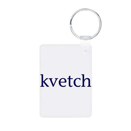 Kvetch Aluminum Photo Keychain