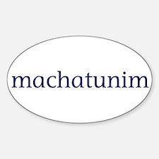 Machatunim Sticker (Oval)