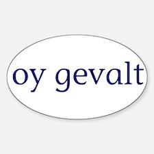 Oy Gevalt Sticker (Oval)