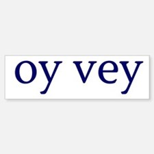 Oy Vey Car Car Sticker