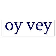 Oy Vey Car Sticker