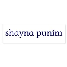Shayna Punim Bumper Sticker