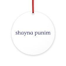 Shayna Punim Ornament (Round)