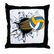 Volleyball Burst Throw Pillow