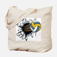 Volleyball Burst Tote Bag