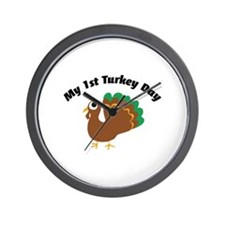 My 1st Turkey Day Wall Clock