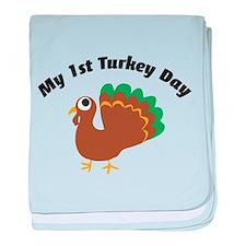 My 1st Turkey Day baby blanket