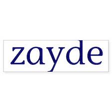 Zayde Car Sticker