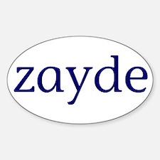 Zayde Sticker (Oval)