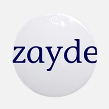 Zayde Ornament (Round)