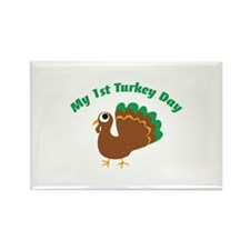 My 1st Turkey Day Rectangle Magnet