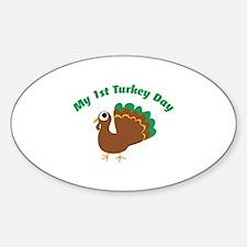My 1st Turkey Day Decal