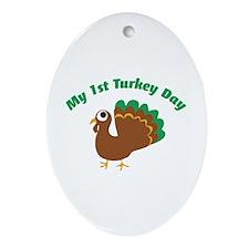 My 1st Turkey Day Ornament (Oval)