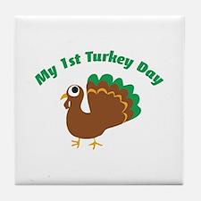 My 1st Turkey Day Tile Coaster