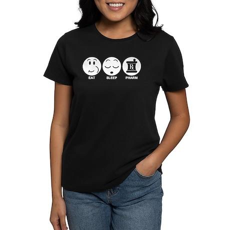 Eat Sleep Pharm Women's Dark T-Shirt
