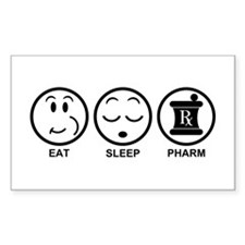 Eat Sleep Pharm Decal