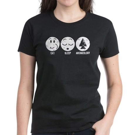 Eat Sleep Archaeology Women's Dark T-Shirt
