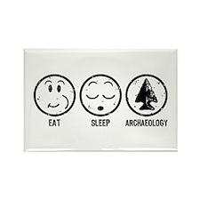 Eat Sleep Archaeology Rectangle Magnet