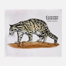 Clouded Leopard Throw Blanket