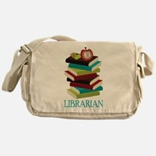 Book Stack Librarian Messenger Bag