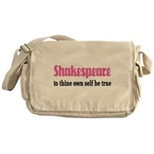 Cute To thine own self be true Messenger Bag