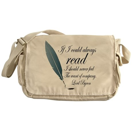Lord Byron Read Quote Messenger Bag
