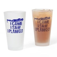Funny Planking Drinking Glass