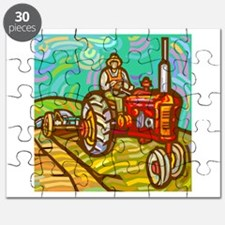 Red Tractor Kid Puzzle