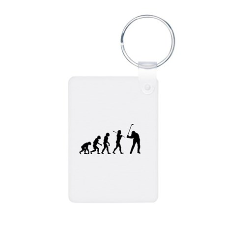 Evolved To Golf Aluminum Photo Keychain
