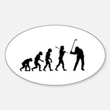 Evolved To Golf Sticker (Oval)