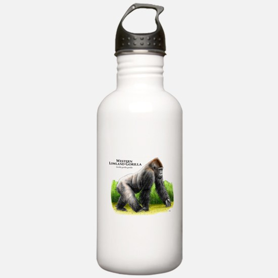 Western Lowland Gorilla Water Bottle