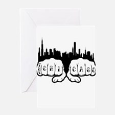 Chicago Tattoo Greeting Card