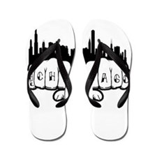Chicago Tattoo Flip Flops