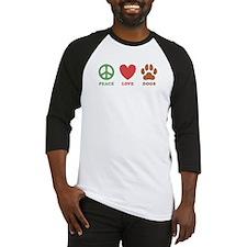 Peace Love Dogs 2 Baseball Jersey
