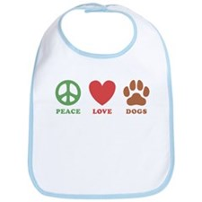 Peace Love Dogs 2 Bib