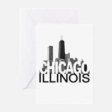 Chicago Skyline Greeting Cards (Pk of 10)